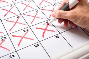X on calendar